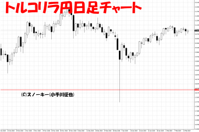 20190217トルコリラ円日足チャート