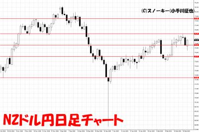 20190223NZドル円日足チャート