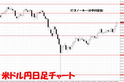 20190302米ドル円日足チャート
