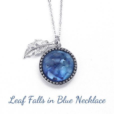 青に落ちる木の葉・ネックレス