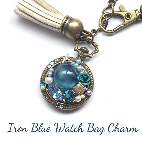 花紺青の懐中時計・バッグチャーム