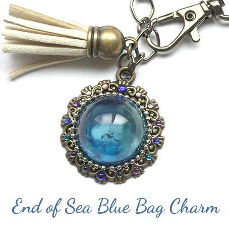 海境(うなさか)の藍・バッグチャーム