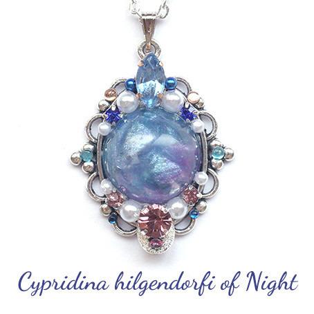 夜水面の海蛍・ネックレス