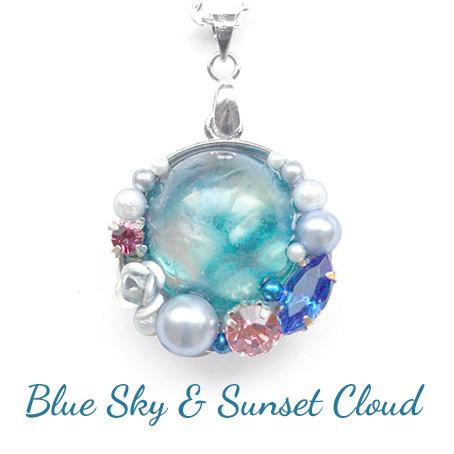 青い空と夕焼雲・ネックレス