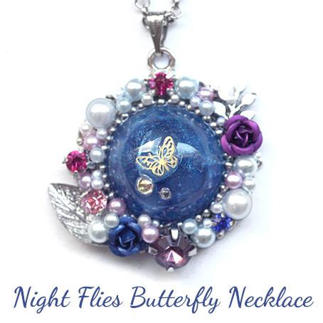 夜に飛ぶ蝶・ネックレス