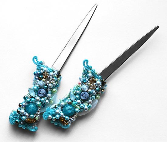 緑青のエッテタンゲ・ペーパーナイフ