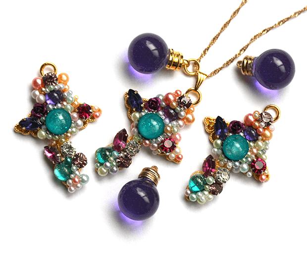 クアドラジェシマの紫・ネックレス