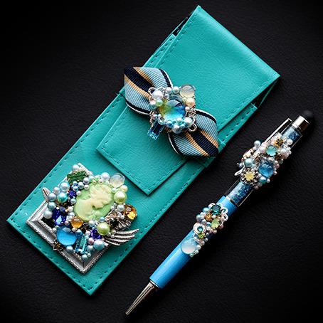 セケルの青いキャンバス・ペンケース&ペン
