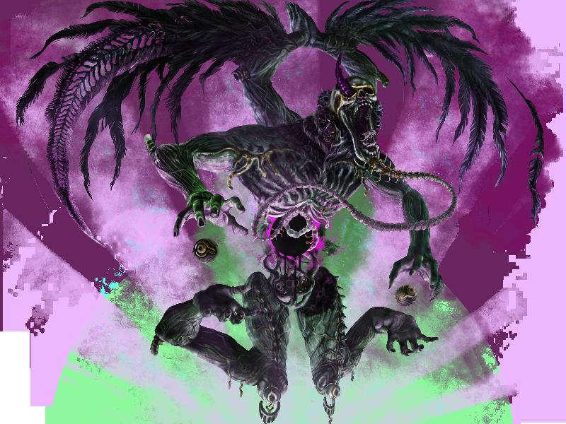 破滅の精霊アモンファス完成