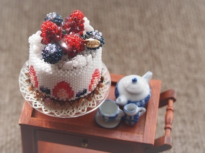 shop Strawberry mousse cake decoration