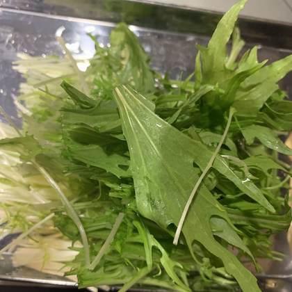 水菜太めを2束