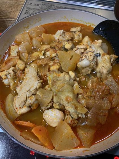 手羽元のキムチ煮