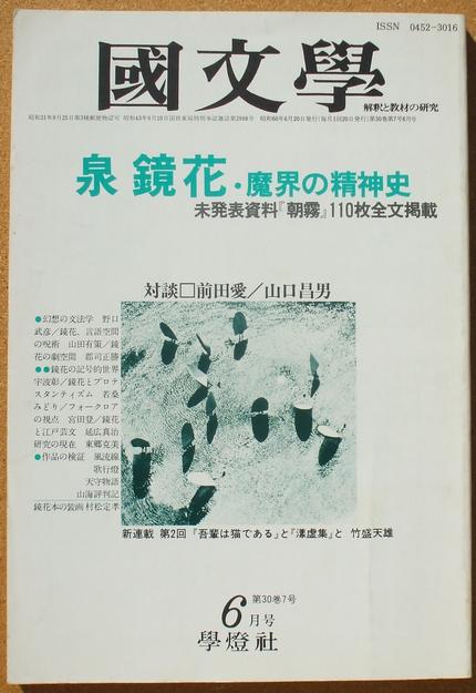 国文学 泉鏡花 魔界の精神史