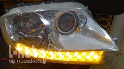マセラティヘッドライト加工2