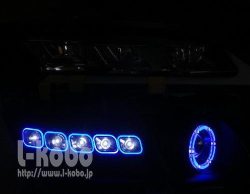 20ヴェルファイアヘッドライト加工1