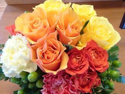 お花いただきました!