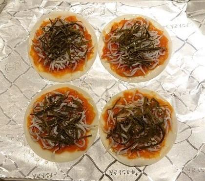 銀次流桜のピザ&桜のかき揚げ5