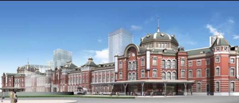 東京駅赤煉瓦パース昼