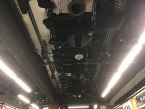 amazon go camera on the ceiling
