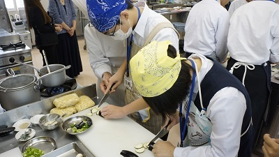 20181013花咲徳栄食育実践科体験学習