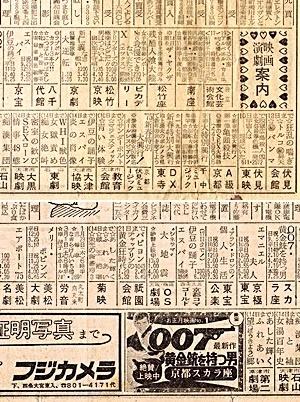 京都新聞の劇場欄昭和50年1月9日1812