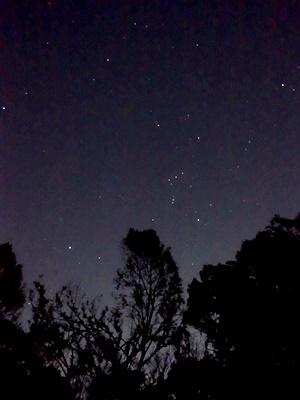桃山御陵の夜空1812