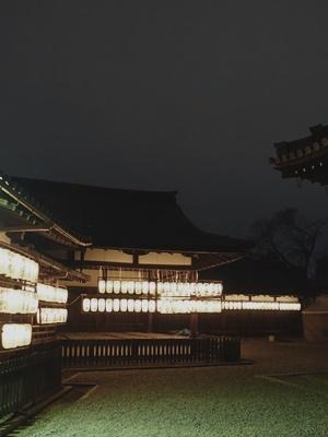夜の御香宮舞台提灯1901