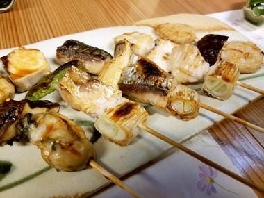 魚の串焼き最高なんです♪