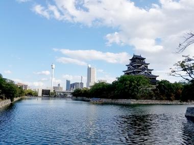 広島城!絶景!