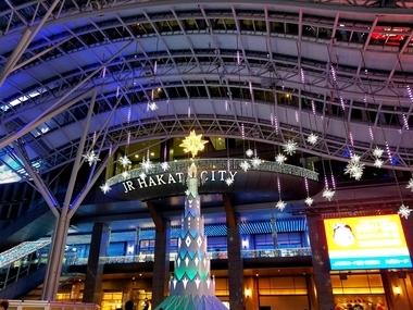 博多駅ライトアップ♪