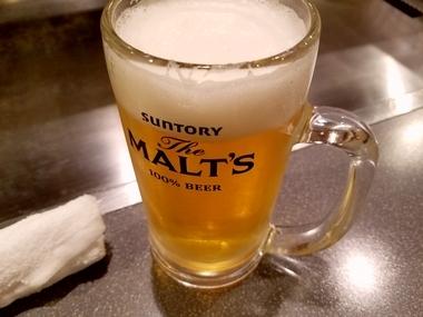 生ビール旨し♪