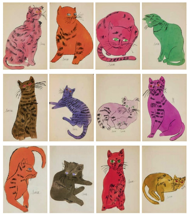 andy-warhol-25-cats-named-sam-and-one-blue--2018ウォーホル④pussy-f-s-iv-52-68