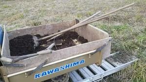 190124昨年の堆肥まく