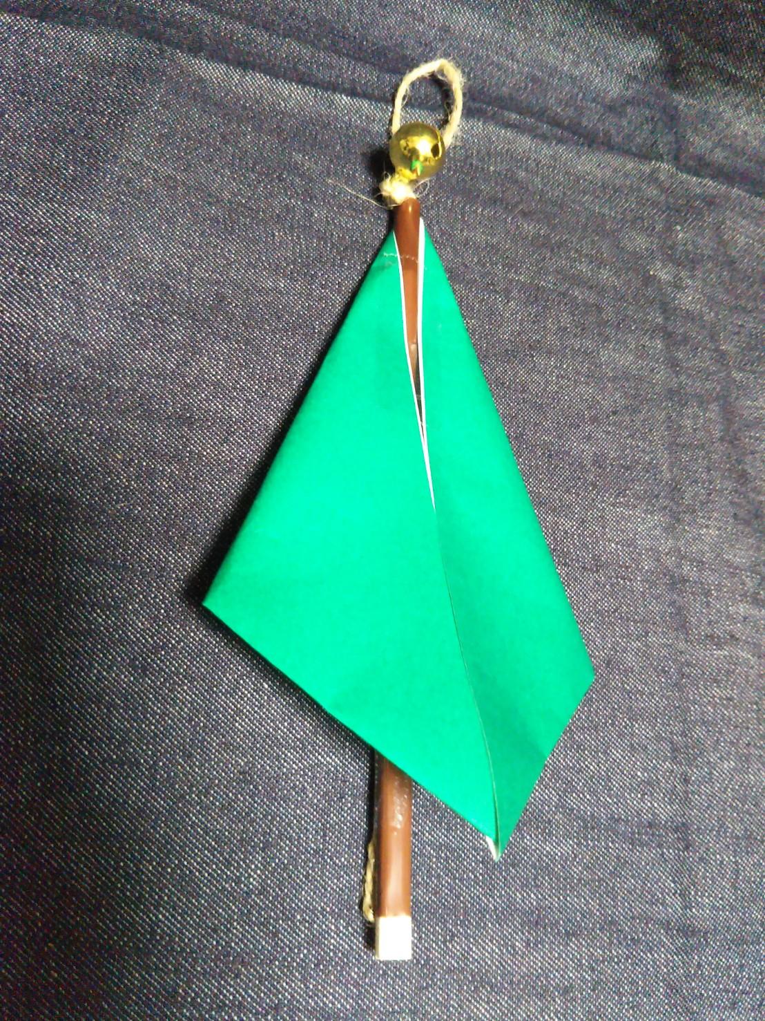 バラン クリスマスツリー 土台をツリー型に折る