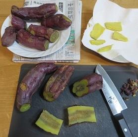 新春、干し芋作り・3