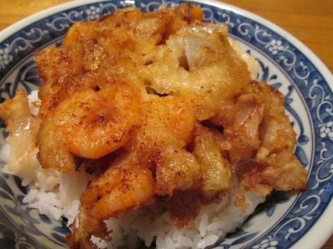 海老とホタテのかき揚げ丼2