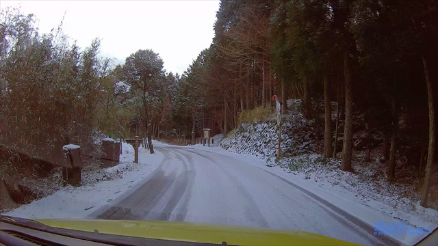 英彦山の雪道