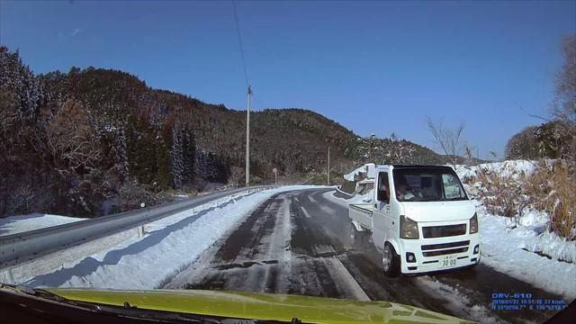 雪の英彦山へ-7 ドリフト軽トラック野郎