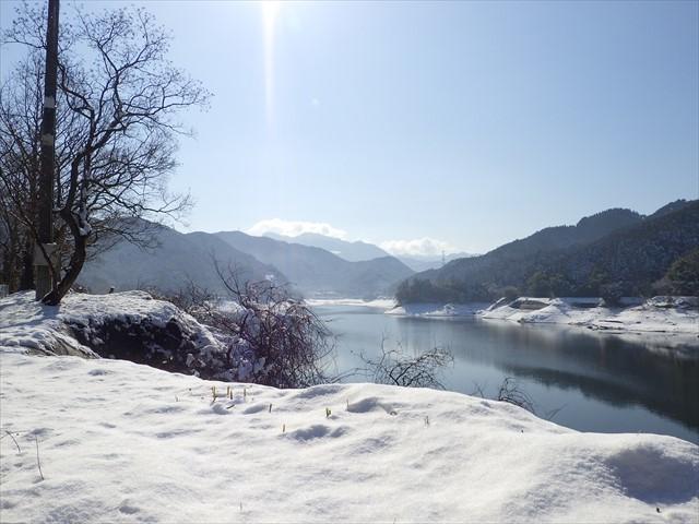 雪の英彦山へ-4 油木ダム