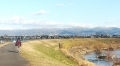 1 天理市の奥の山は、薄らと雪 大