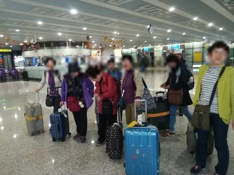 8 桃園国際空港第2ターミナルに到着