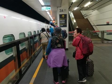 12 台北站へ到着