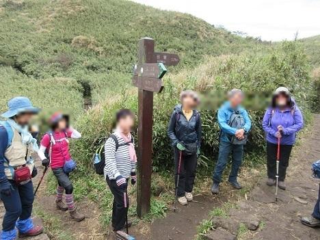 6 苗圃への下山ロート分岐