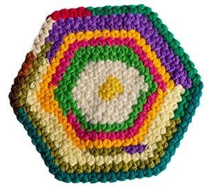 リフ編み座布団