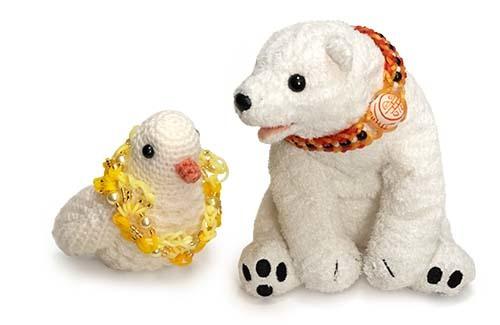 輪ゴムブレス白熊鳥