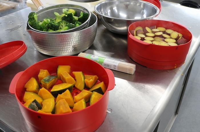 いろいろな野菜を蒸して 31 2 20