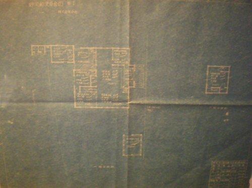 野間郵便局旧舎・平面図