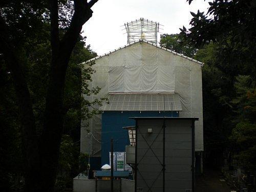 池上本門寺・多宝塔修復1