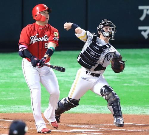 2018.10.31 日本シリーズ第4戦 未だにカープの盗塁を許さない甲斐