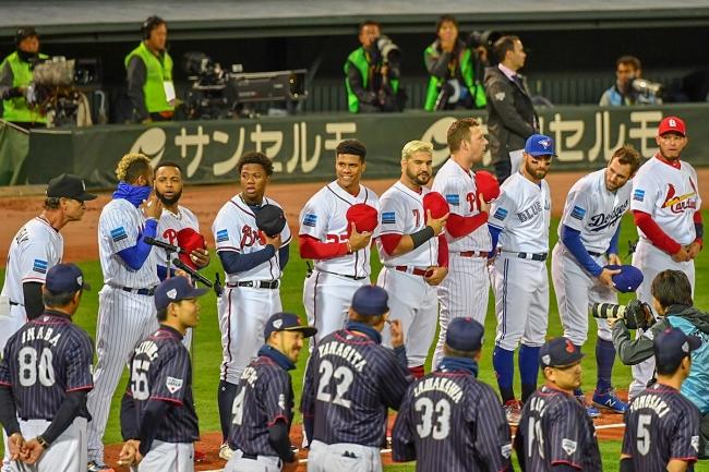 2018.11.13 侍ジャパン-MLB選抜第4戦 マツダスタジアム オープニングセレモニー